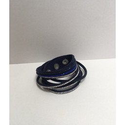 Lucy Cobb Sparkle Choker/Cuff - Navy Royal