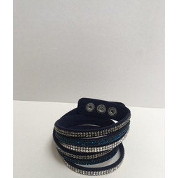 Lucy Cobb Sparkle Choker/Cuff - Navy Silver