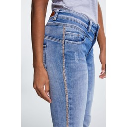Oui Sparkle Seam Jeans - Denim