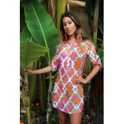 Sophia Alexia Beach Shirt in Sunset Paradise