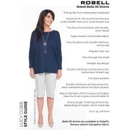 Robell Trousers Bella 05 Shorts - Denim Blue