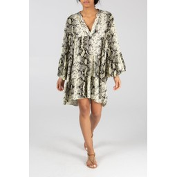 Lucy Cobb Millie Snake Print Tunic - Pale Yellow