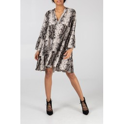 Lucy Cobb Millie Snake Print Tunic - Stone
