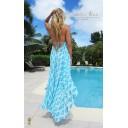 Silk Ibiza Dress Long - Aquamarine Dream - Alternative 1