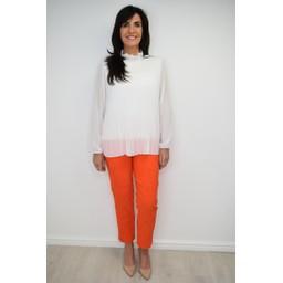 Robell Trousers Bella 09 Jacquard Trousers - Orange