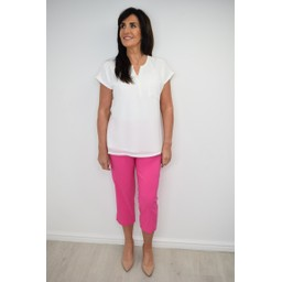 Robell Trousers Marie 07 Capri Trousers - Pink