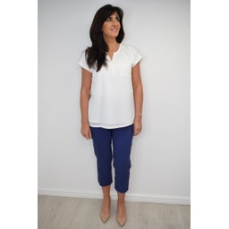 Robell Trousers Marie 07 Capri Trousers in Denim Blue