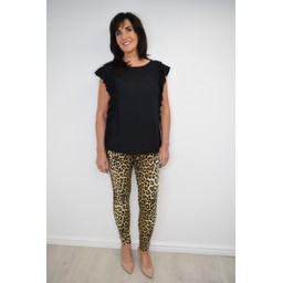 Lucy Cobb Amelia Animal Print Jeans  in Leopard Print