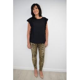 Lucy Cobb Amelia Animal Print Jeans  - Leopard Print