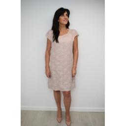 Lucy Cobb Daisy Linen Printed Dress - Dusky Pink