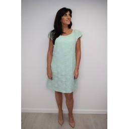 Lucy Cobb Daisy Linen Printed Dress - Mint
