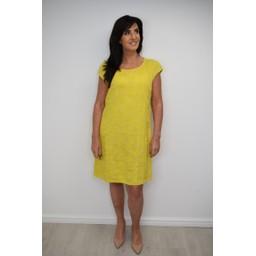 Lucy Cobb Daisy Linen Printed Dress - Mustard