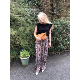 Lucy Cobb Serena Wide Leg Trousers - Snake Print