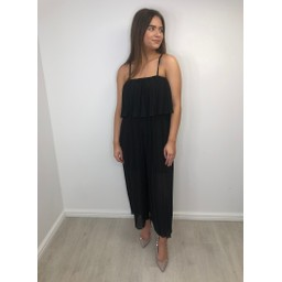 Lucy Cobb Poppy Pleated Jumpsuit in Black
