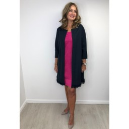 Alice Collins Sandra Longline Jacket - Navy