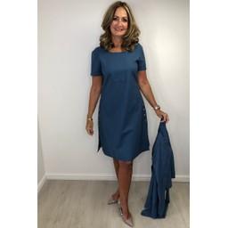 Alice Collins Kylie Dress in Dusky Indigo