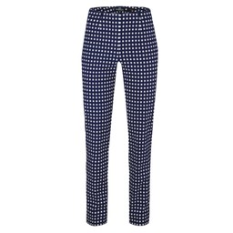 Robell Trousers Marie Graphic Print Trousers - Navy