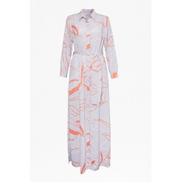 Great Plains Ava Abstract Shirt Dress - Grey Mix