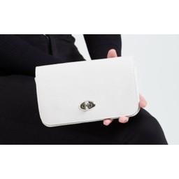 LC Bags Silver Buckle Travel Wallet - Beige