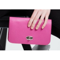LC Bags Silver Buckle Travel Wallet - Fuchsia