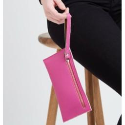 LC Bags Zip Wallet - Fuchsia