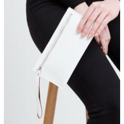 LC Bags Zip Wallet in White