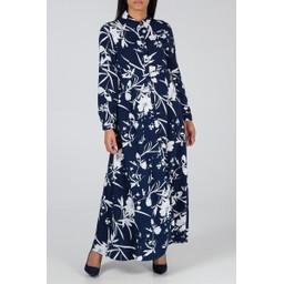 Lucy Cobb Floral Shirt Dress - Navy