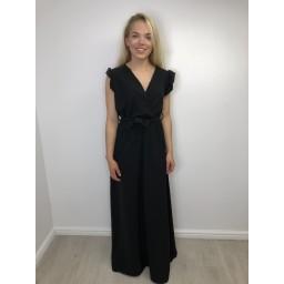 Lucy Cobb Billi Puff Sleeve Maxi Dress - Black