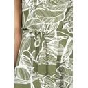 Linen Leaf Strappy Dress - Green - Alternative 2