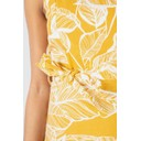 Linen Leaf Strappy Dress - Mustard - Alternative 1