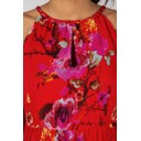 Keyhole Floral Maxi - Red Floral - Alternative 2