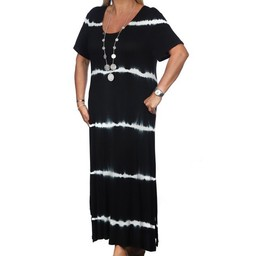 Malissa J Tie Dye T Shirt Dress - Black