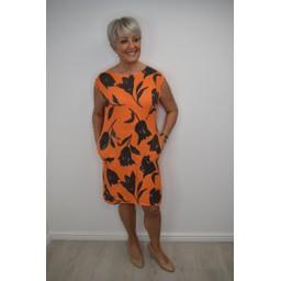 Lucy Cobb Tulip Linen Dress in Orange