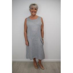 Lucy Cobb Louisa Linen Dress - Grey