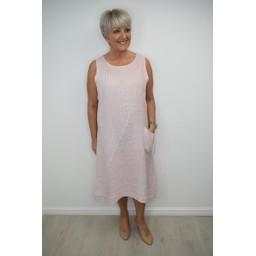 Lucy Cobb Louisa Linen Dress in Pink