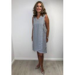 Alice Collins Summer Dress - Grey Mix