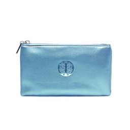 LC Bags Toni Clutch With Strap in Metallic Blue
