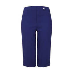 Robell Trousers Bella 05 Bermuda Shorts in Denim Blue