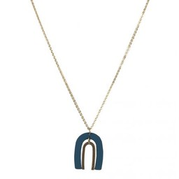 Lucy Cobb Jared Ark Two Tone Necklace in Blue