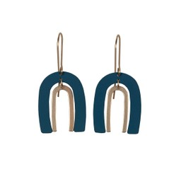 Lucy Cobb Jared Ark Two Tone Earrings - Blue