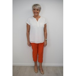 Robell Trousers Rose 07 Capri Trousers - Orange