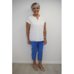 Robell Trousers Marie 07 Capri Trousers in Azure Blue