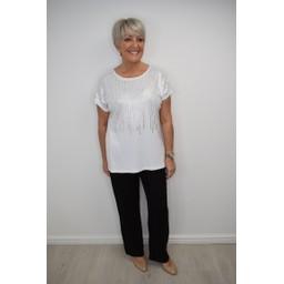 Fransa FRciglitter 1 T-Shirt - White