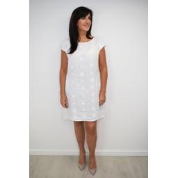 Lucy Cobb Circle Linen Dress - White