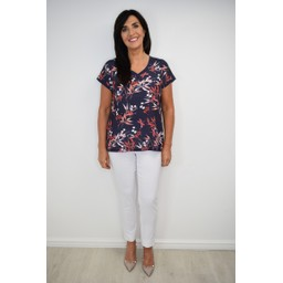 Fransa FRDIBLUMY 1 T Shirt in Navy Mix