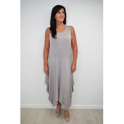 Alice Collins Jane Jersey Dress - Pewter