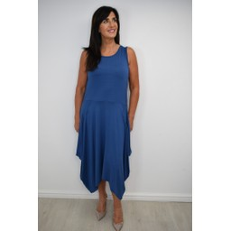 Alice Collins Jane Jersey Dress in Indigo