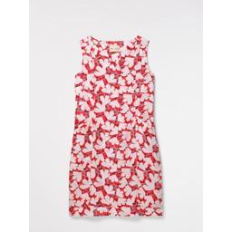 White Stuff Marina Linen Dress - Red