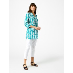 White Stuff Harper Tunic  - Jade Green Print