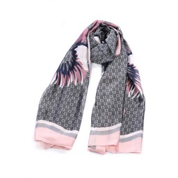 Malissa J Border Design Scarf in Pink